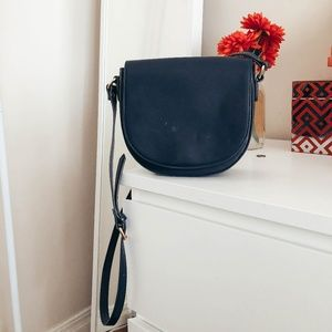 Navy minimalist crossbody bag